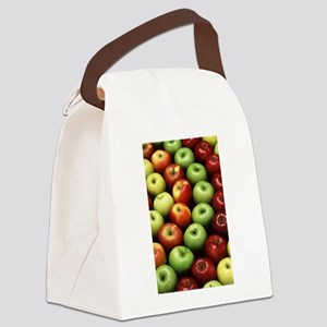 apples red green granny smith Canvas Lunch Bag